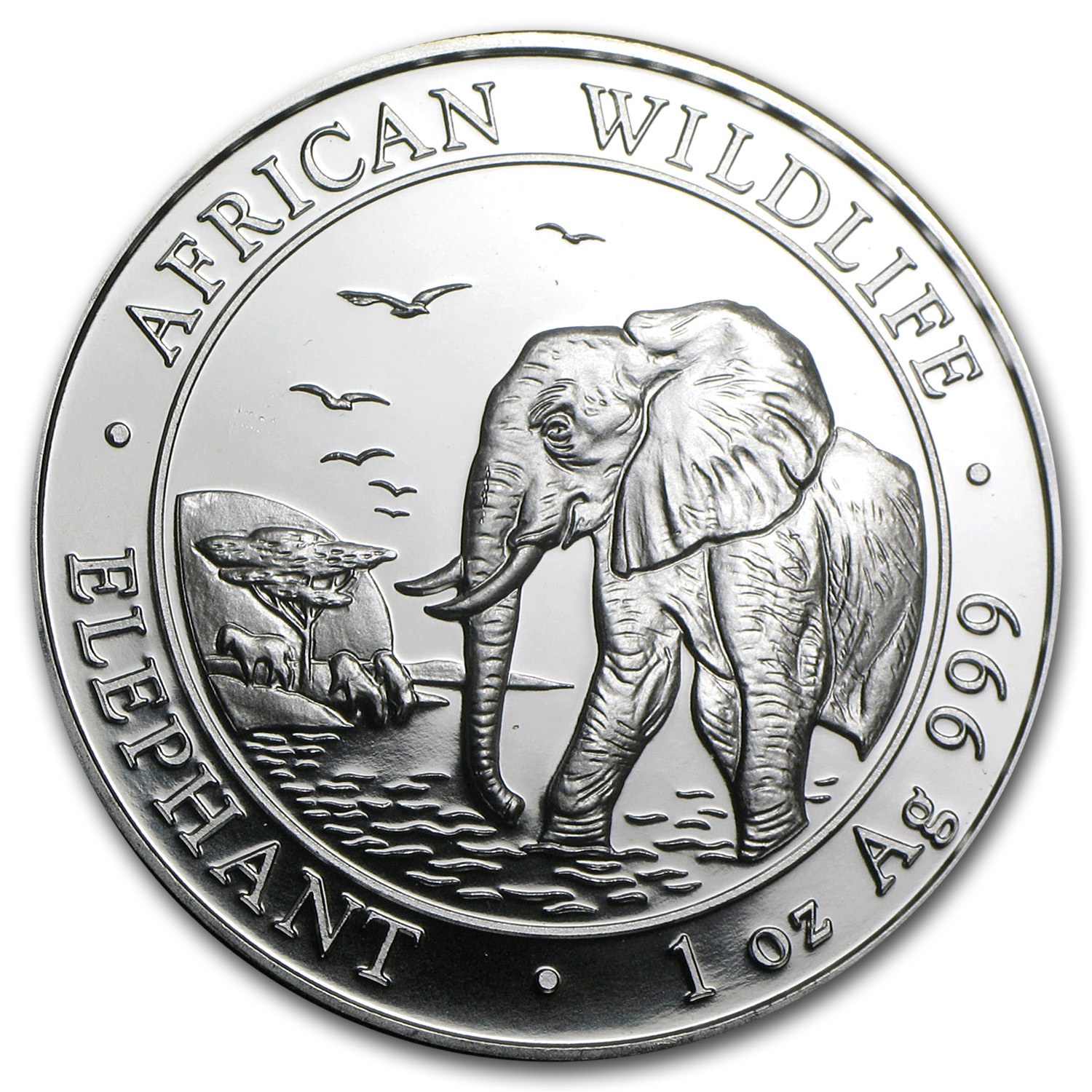 2010 1 oz Silver Somalian Elephant - Brilliant Uncirculated